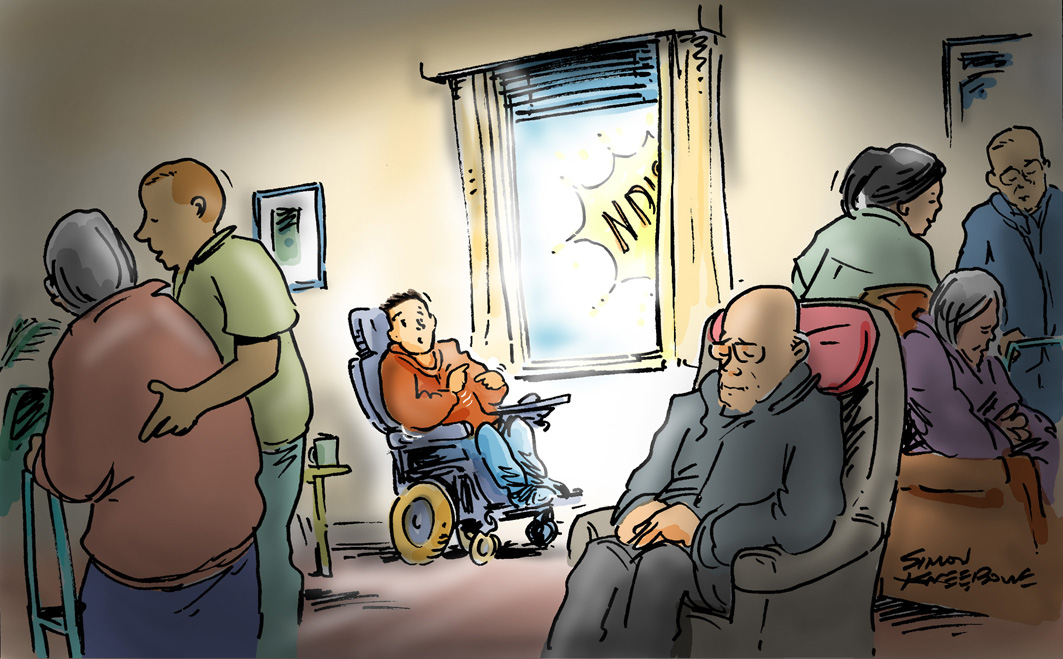Young in aged care pic